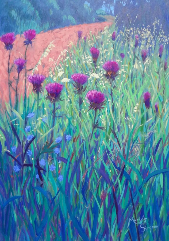 thistles triptych, 1, 50 x 70 cms, oil on canvas